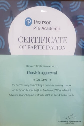 Harshit Certificate